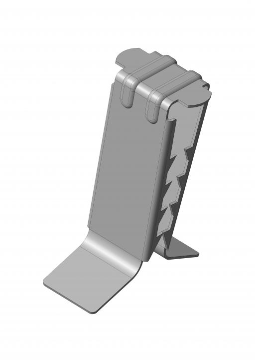 VZ-10 Druckfeder mit Zahnung für verschiedene Mineralfaserplatten-Stärken