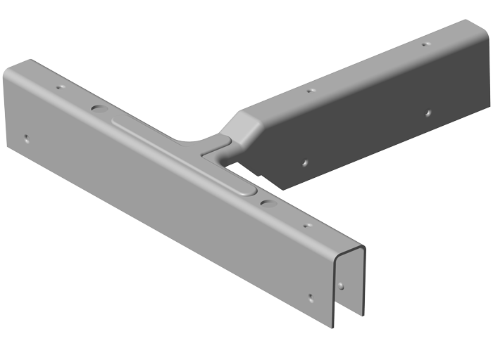 TV-2/DB-4 T-Verbinder