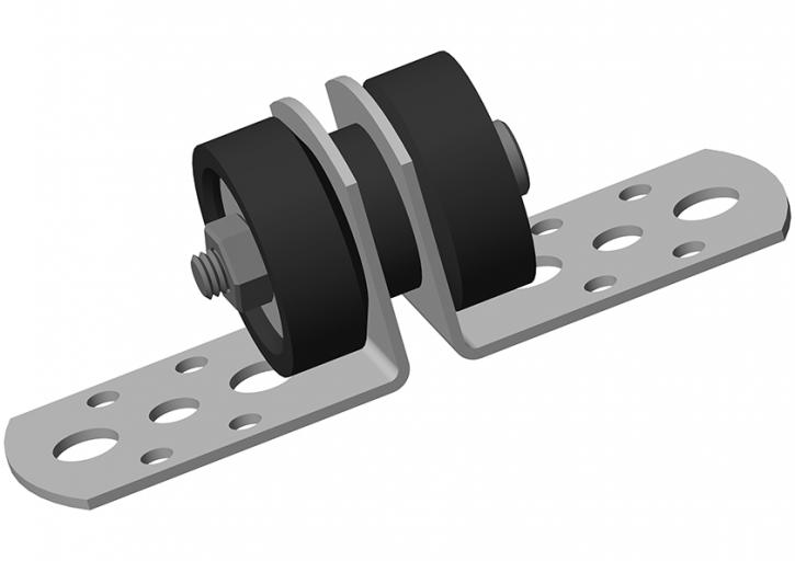 GK-S Schallfix Verbindungswinkel für Doppelständerwände schallentkoppelt