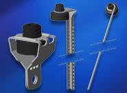 Nonius-Oberteile, Drähte und Universalabhänger schallentkoppelt
